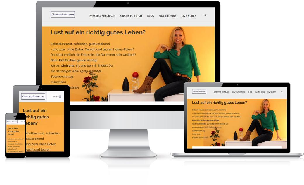 Chi-statt-Botox Webseitenbeispiel