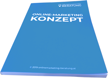 Online-Marketing-Konzept Frontansicht