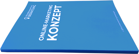 Online-Marketing-Konzept Rückansicht