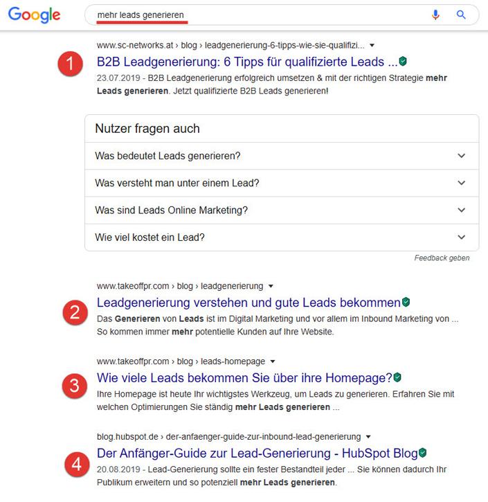 Organischer Google-Traffic