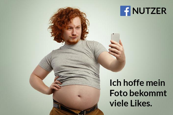 Typischer Facebook-Nutzer