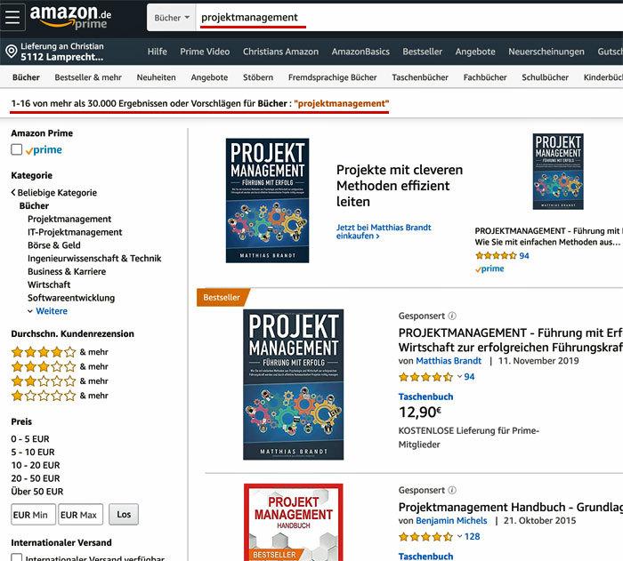 Amazon-Bücher als Kundenakquise-Kanal