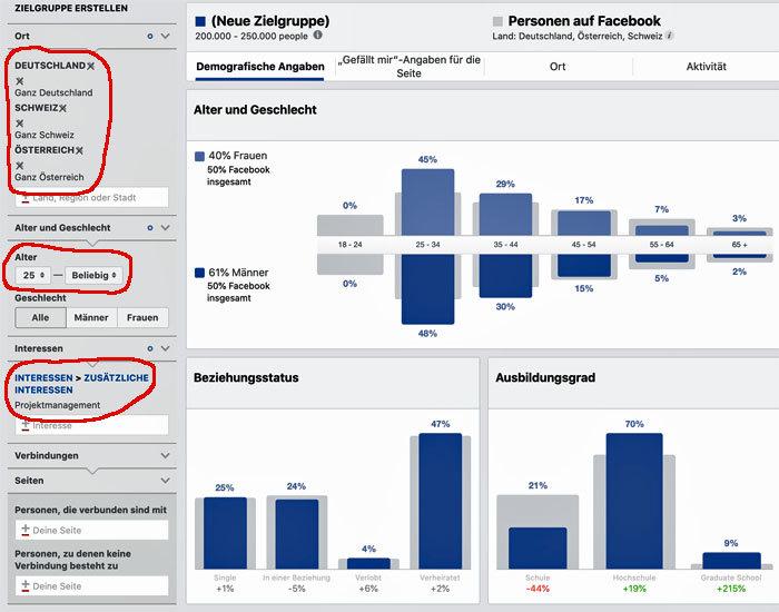 Zielgruppen-Insights Facebook Kundenakquise